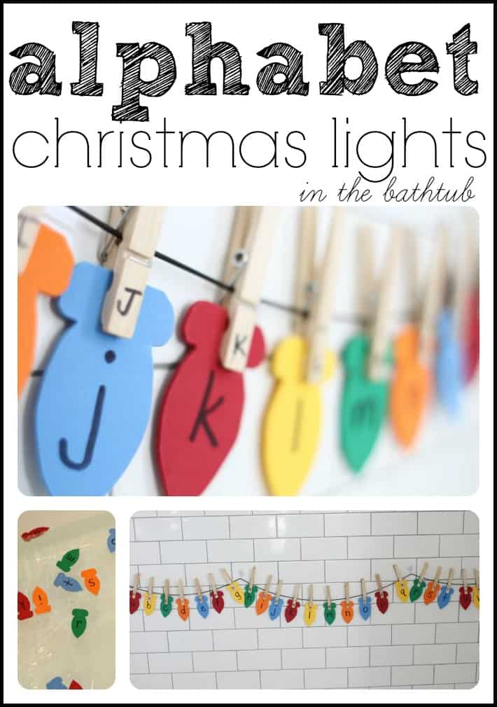 alphabet christmas lights match capital and lowercase letters