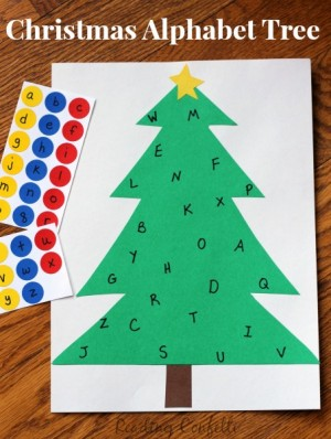 Alphabet Sticker Tree