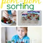 Christmas Pom Pom Sorting 150x150 Toddler Time: Building Towers
