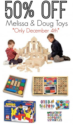 Half Off Melissa & Doug Toys Today Only