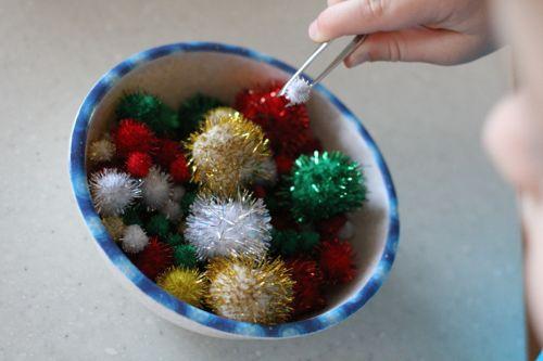 IMG 5055 Christmas Pom Pom Sorting
