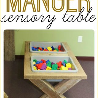 DIY Sensory Table that looks like a Manger