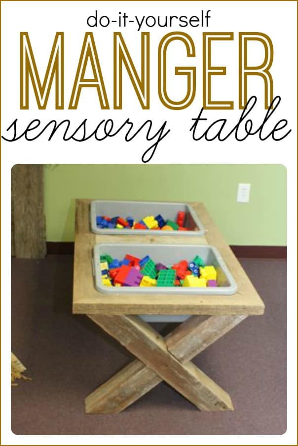 Classroom Easter Ideas ~ Diy sensory table that looks like a manger i can teach