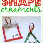 Shape Ornaments for Toddlers and Preschoolers 150x150 Paper Bag Manger Craft