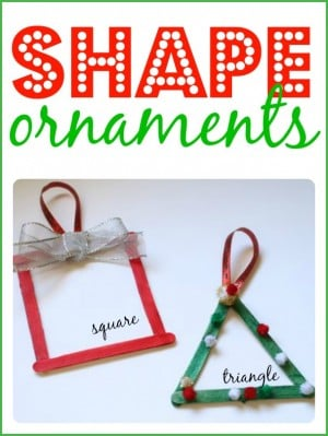 Shape Ornaments for Toddlers and Preschoolers 300x399 Shape Ornaments for Toddlers and Preschoolers