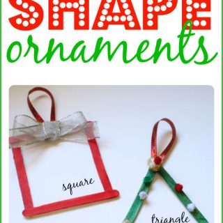 Shape Ornaments for Toddlers and Preschoolers