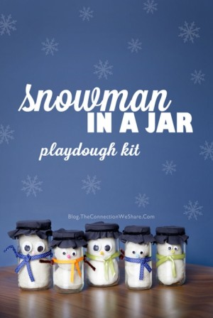 Snowman in a Jar 300x447 Show and Share Saturday Link Up!