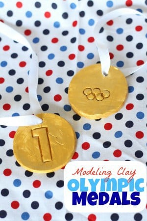 Baking-Soda-Modeling-Clay-Olympic-Medals