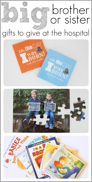 Big Brother or Sister Gifts to Give at the Hospital