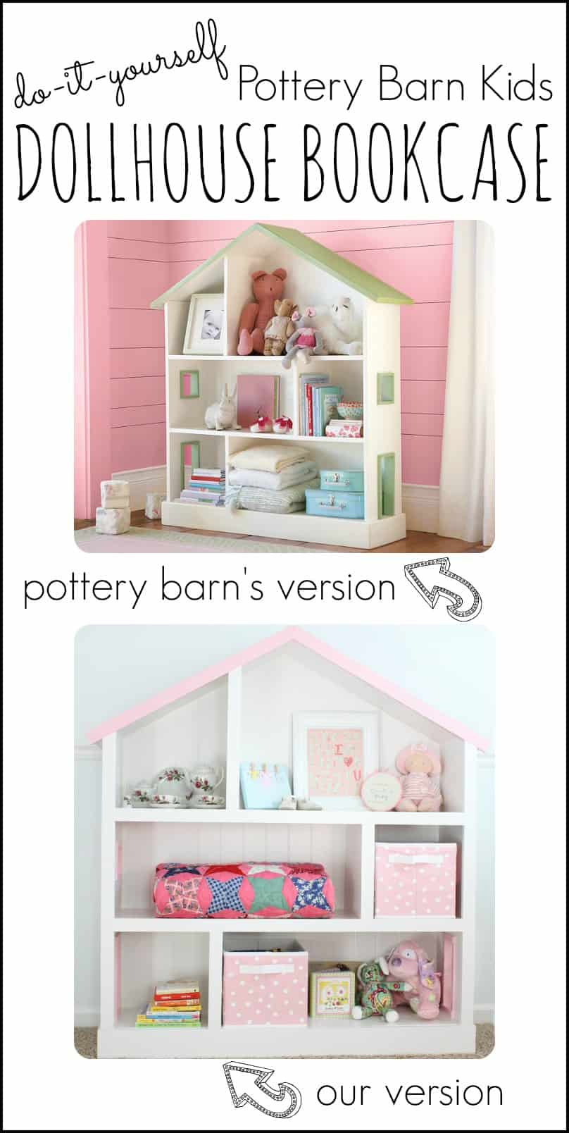 Diy Pottery Barn Kids Dollhouse Bookcase