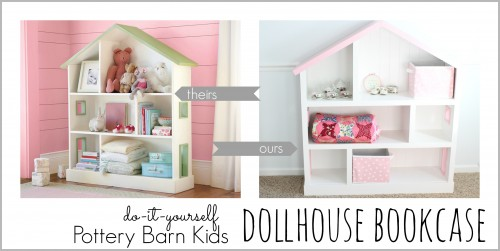 Horizontal bookcase 500x251 DIY Dollhouse Bookcase