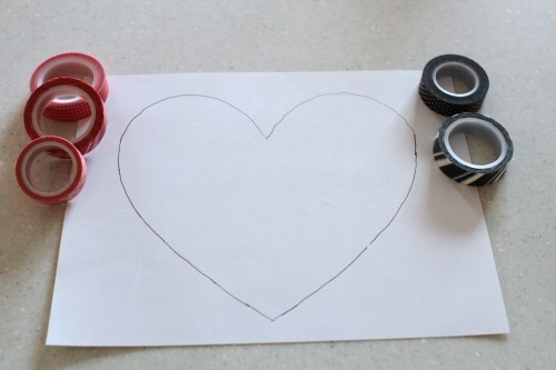 IMG 5429 500x333 Simple Washi Tape Hearts