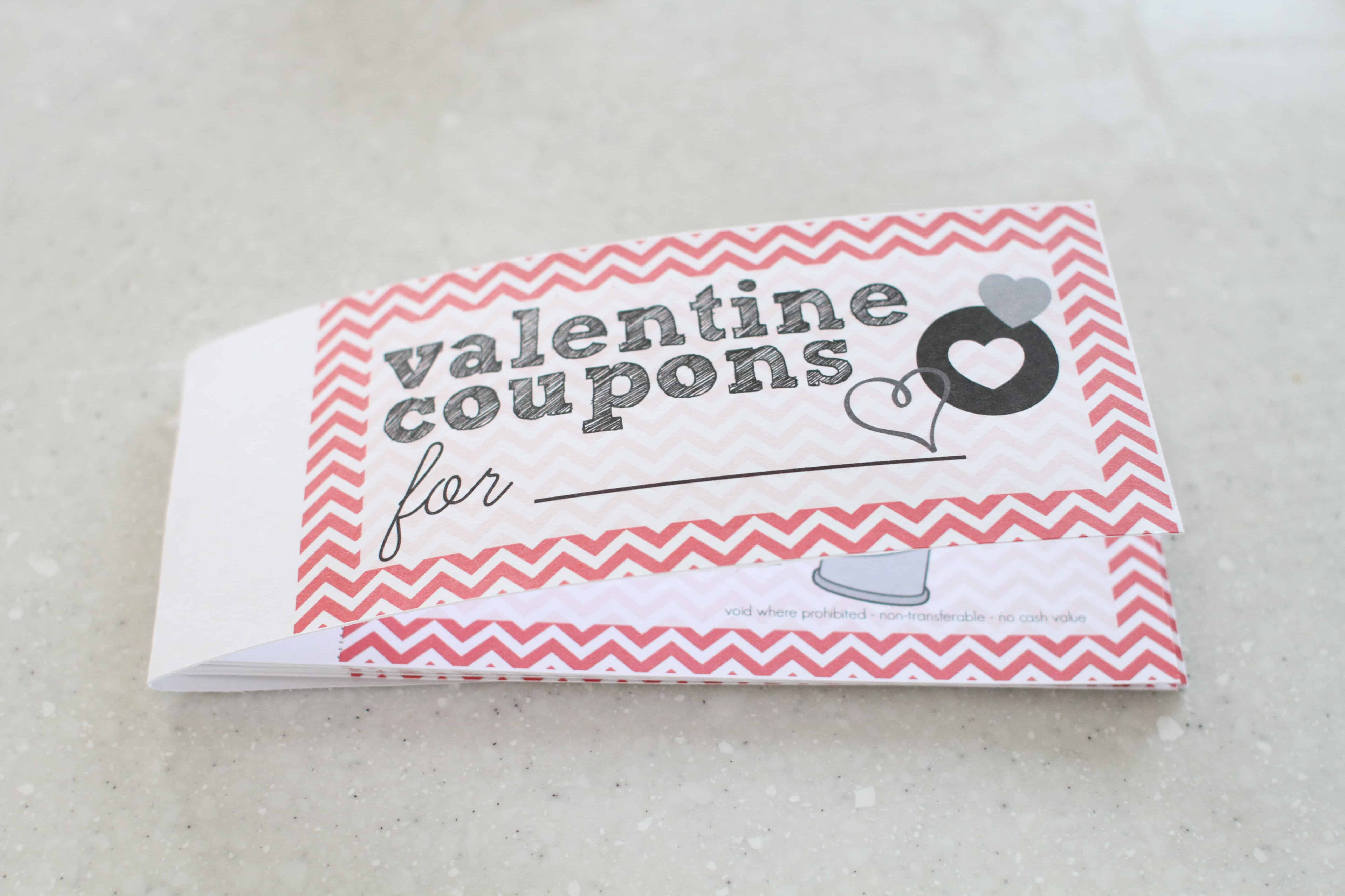 valentines day coupon book for kids i can teach my child put all of the coupons on the inside of the cover the back won t completely enclose the coupons it will be too short but that is fine
