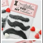 Mustache Valentines (with free printable tags)