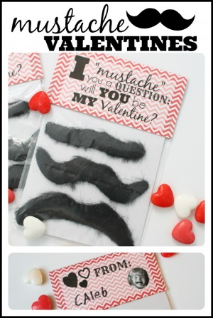Mustache Valentines with free printable