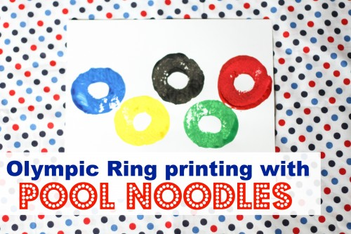 Olympic-Ring-Printing-with-Pool-Noodles