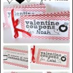 Printable Valentines Day Coupon Book for Kids 150x150 Simple Brown Paper Valentines (Filled with Candy)