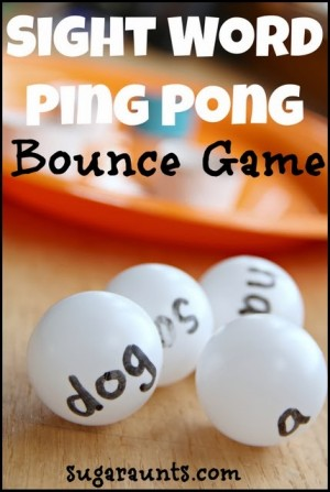 Sight Word Ping Pong Game