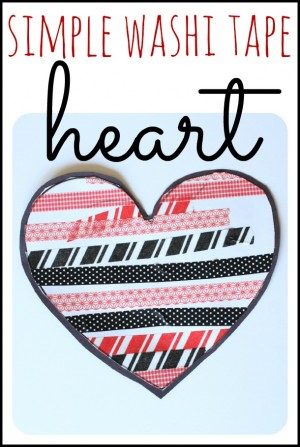 Simple Washi Tape Heart 300x447 Simple Washi Tape Hearts