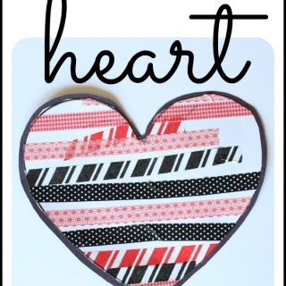 Simple Washi Tape Hearts