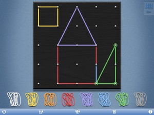 Geoboard screen shot rz