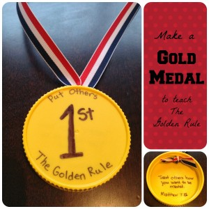 Golden Medal to teach Golden Rule 300x300 Show and Share Saturday Link Up!