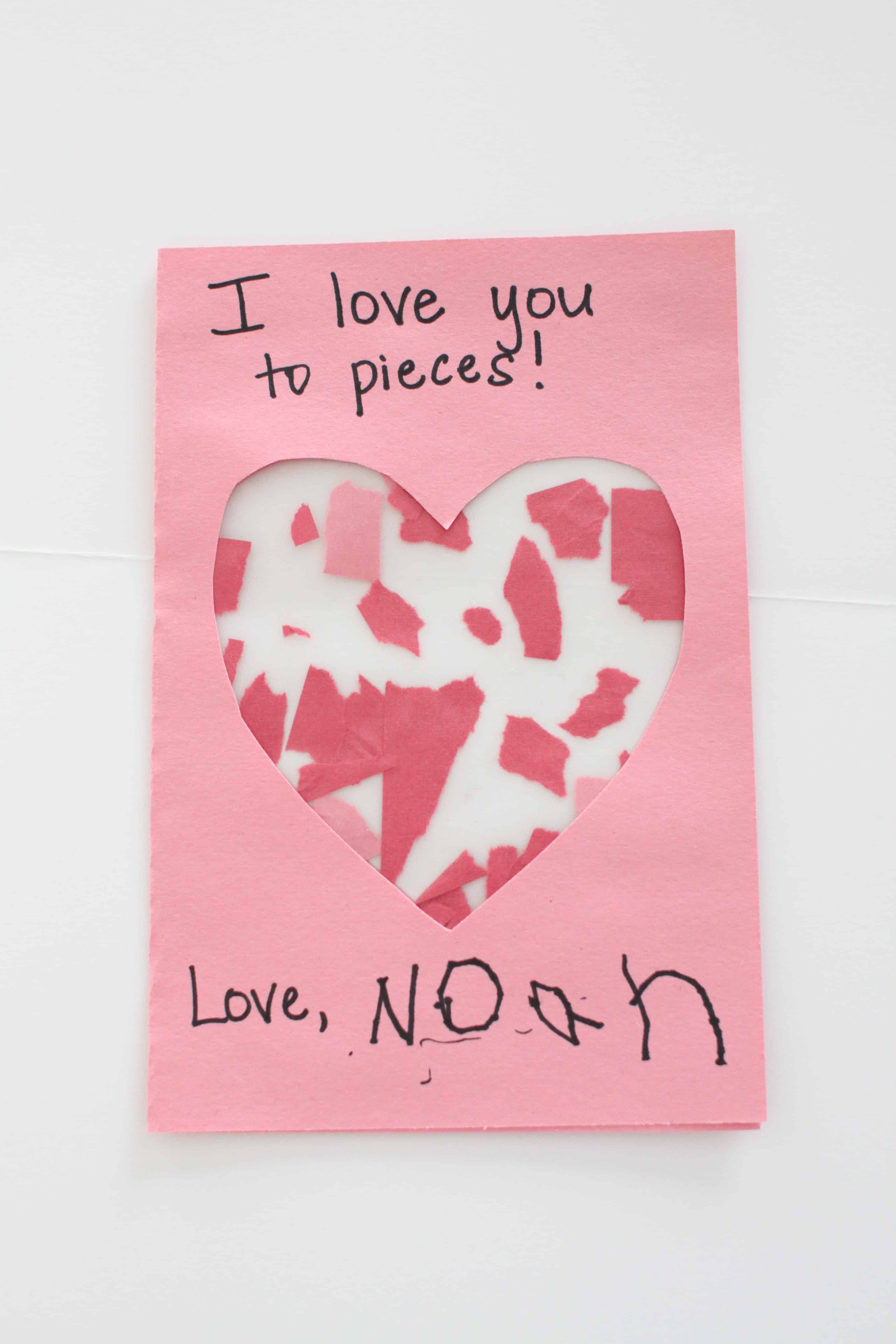 """""""i love you to pieces"""" valentines  i can teach my child"""