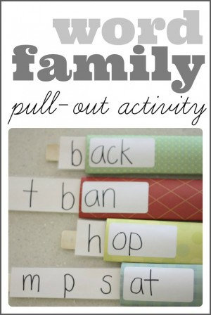 Word Family Pull Out Activity 300x448 Word Family Lego Buildings