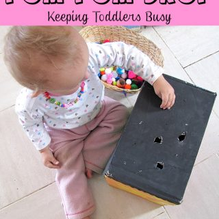 Pom Pom Drop- Keeping Toddlers Busy