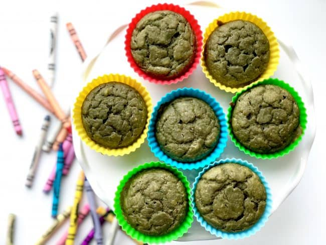 After School Green Smoothie Muffins