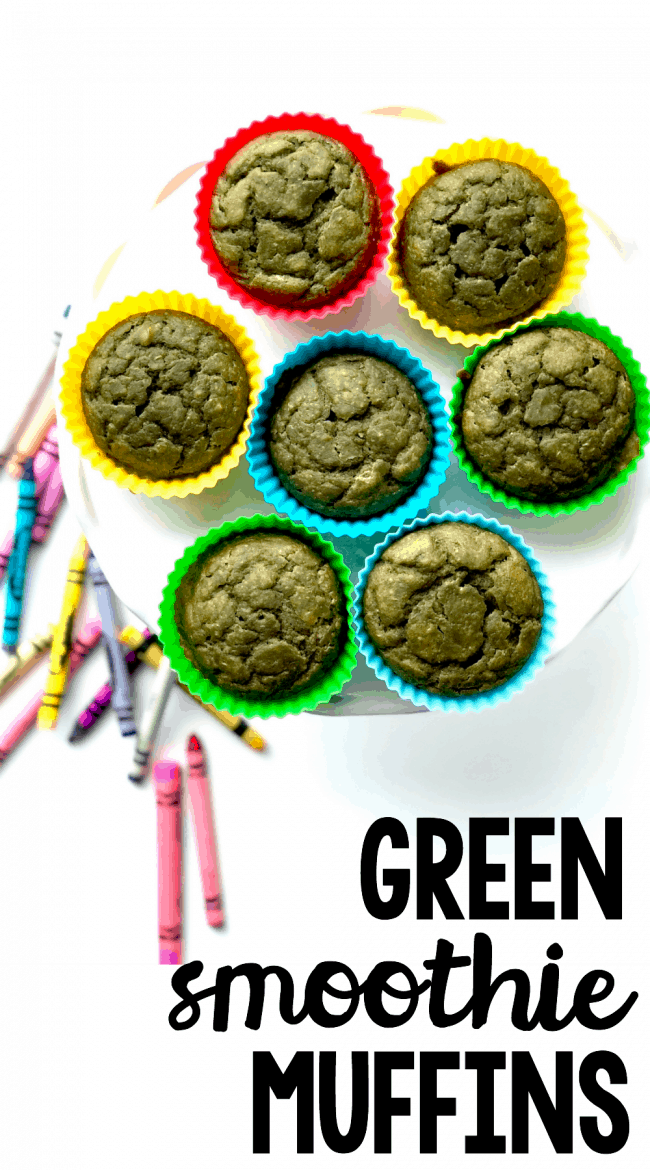 Green Smoothie Muffins- perfect after school snack