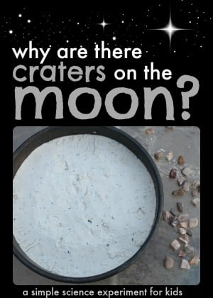 Help young children discover why there are craters on the moon with this simple science experiment great for science fairs 300x420 Simple Science Experiment for Kids:  Why are there craters on the moon?