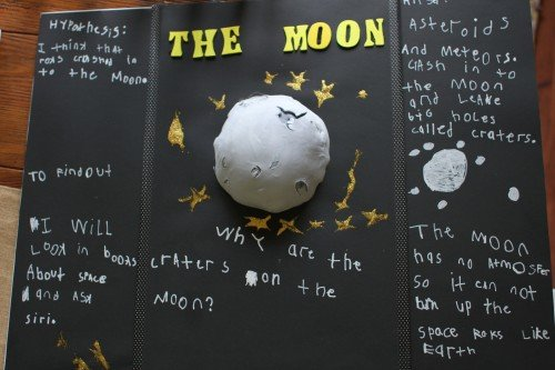 IMG 7261 500x333 Simple Science Experiment for Kids:  Why are there craters on the moon?