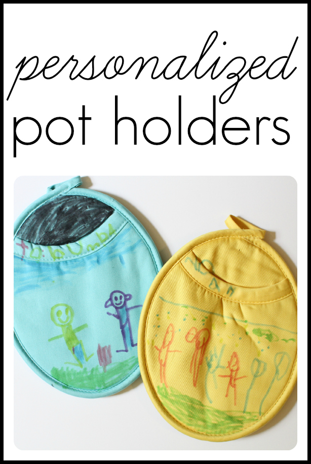 Personalized Pot Holders...great gift idea for Mother's Day!
