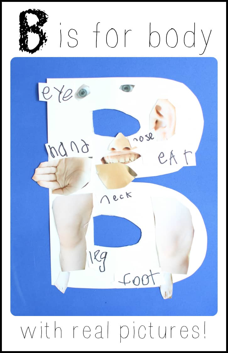 Alphabet Craft B Is For Body I Can Teach My Child
