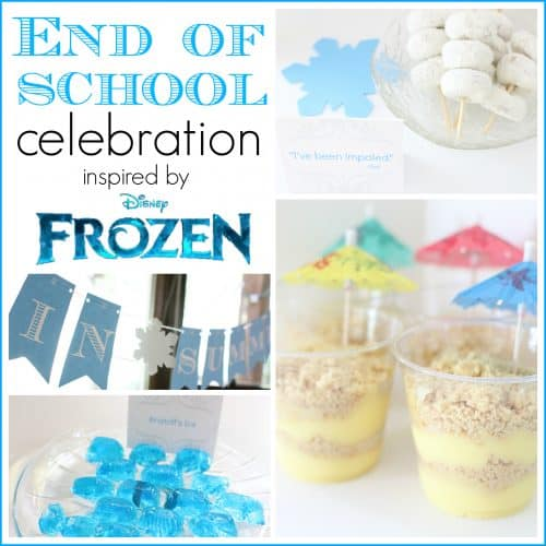 Celebrate the end of school with this Frozen inspired celebration featuring Olaf 500x500 Frozen inspired End Of School Celebration