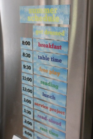 IMG 7923 300x450 Printable Summer Schedule for Your Refrigerator (just add magnets)