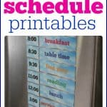 Summer Schedule Printables print out and put on refrigerator to help organize your summer days  150x150 Cookie Sheet Travel Activity:  Magnetic Sandpaper and Yarn