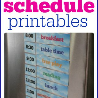 Printable Summer Schedule for Your Refrigerator (just add magnets)