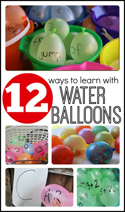 12 Ways to Learn with Water Balloons 500x846 Show and Share Saturday Link Up!