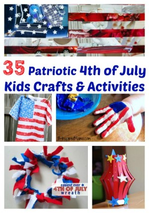 35 Patriotic 4th of July Kids Crafts Activities 300x428 Show and Share Saturday Link Up!