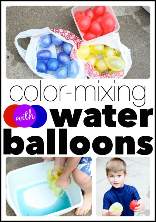 Color Mixing with Water Balloons 500x710 Mixing Colors with Water Balloons