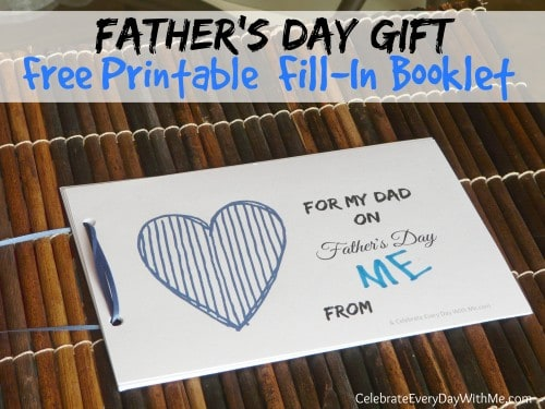 Fathers Day Gift free printable fill in booklet 500x375 Show and Share Saturday Link Up!