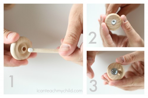 Making a spinning top step-by-step