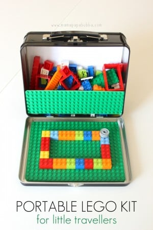 Portable LEGO Kit Mama.Papa .Bubba . 300x450 Show and Share Saturday Link Up!