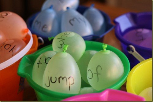 Sight Word Water Balloons