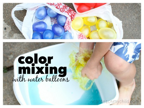 color mixing 500x375 Mixing Colors with Water Balloons