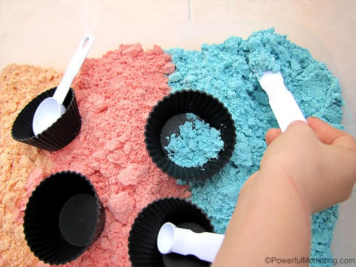 play with vibrant color cloud dough 500x375 Show and Share Saturday Link Up!