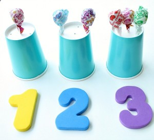 Counting with Lollipops 300x272 Show and Share Saturday Link Up