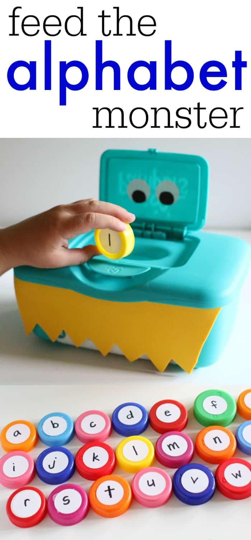 preschool alphabet game feed the alphabet i can teach my child 985
